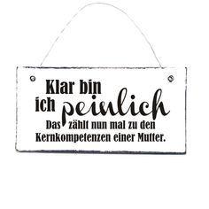 Buchstaben & Schriftzüge - MUTTER PEINLICH Spruchschild Türschild Holzschild - ein Designerstück von DOERPKIND bei DaWanda