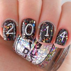 New Years Nails - 38 of the BEST New Year Nails to Kick Off 2016! New Year's Eve Nails, Nail Art and Designs to be fabulous on the last day of the year!