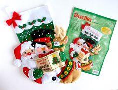 Bucilla Navidad Bucilla fieltro personalizado terminado mediabusilla