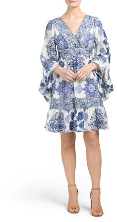 Printed Bell Sleeve Boho Dress  https://api.shopstyle.com/action/apiVisitRetailer?id=619472445&pid=uid2500-37484350-28