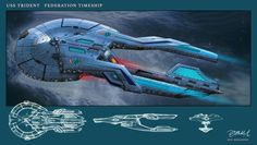 Defender Design notes The U. Defender was launched in 2410 after an attack on Deep Space Nine by an alien species known as the . Trek Deck, Starfleet Ships, Alien Ship, Sci Fi Spaceships, Spaceship Art, Sci Fi Shows, Star Wars, Star Trek Starships, Concept Ships