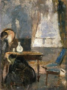 The Athenaeum - The Sickroom (Edvard Munch - ) Edvard Munch, Oslo, Statues, National Art Museum, Artist Life, Old Master, Museum Of Modern Art, Vincent Van Gogh, Les Oeuvres