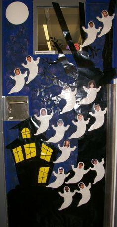 halloween classroom door decorating contest teaching resources pinterest halloween. Black Bedroom Furniture Sets. Home Design Ideas