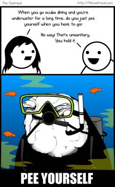 There are 2 kind of divers: the divers who pee in their wetsuit and the divers who lie about it.