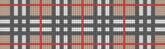 Burberry plaid knitting graph