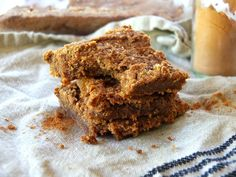 AIP and vegan paleo pumpkin bars made with tigernut flour and canned pumpkin. Delicious paleo pumpkin bars recipe.