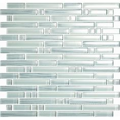 Found it at Wayfair - Brushstrokes Bianco Random Sized Glass Mosaic Tile in White
