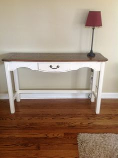 I used Anne Sloan Chalk paint....yes YOU can do it too!  Easy!