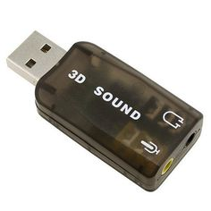 USB 2.0 External Sound Card Adapter 5.1 Channel Support 3D Sound