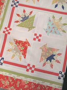 Sweet Caroline at www.hollyhillquilts.com.  Fig Tree & Company fabrics and pattern