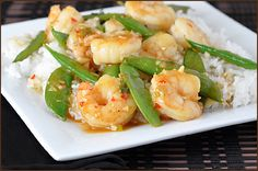 Shrimp Stir-Fry with Sugar Snap Peas by veryculinary #Shrimp #Sugar_Snap_Peas