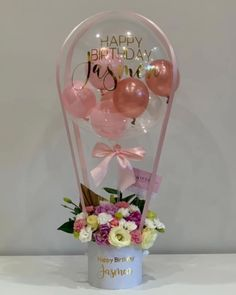 💖 J A S M E N 💖 All the making an appearance for the Balloon Box, Balloon Gift, Balloon Flowers, Balloon Bouquet, Quince Decorations, Balloon Decorations, Birthday Decorations, Clear Balloons, Balloons And More