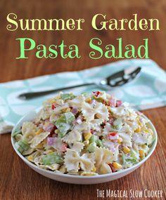Summer Garden Pasta Salad Text