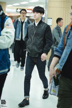150408- EXO Oh Sehun; Gimpo Airport to Beijing Airport #exok #fashion #style