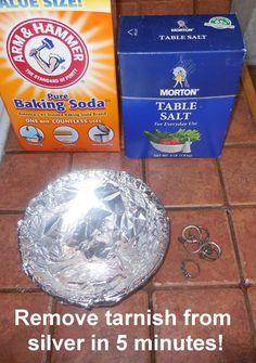 Friday s focus on cleaning tarnished jewelry diy for Baking soda silver polish jewelry