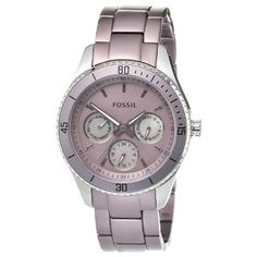 Best Buy Fossil Womens ES3038 Stella Purple Aluminum and Stainless Steel Watch at http://get.nazuka.net/review/product.php?asin=B0066T2OCQ