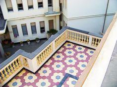 #Cementine esagonali Grandinetti Villa Giardino   Cama Living - #cementtiles #carreauxciment #mosaicohidraulico #cementfliesen