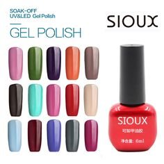 49-72 SIOUX 6ml UV Gel Nail Polish LED Lamp Long lasting Soak Off Cheap Gelpolish Vernis Top Coat Glue 108 Color SI05 #clothing,#shoes,#jewelry,#women,#men,#hats,#watches,#belts,#fashion,#style