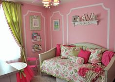19 Marvelous Childs Room Ideas With Pink Walls Big Girl Rooms childs Ideas Marvelous pink room Walls Big Girl Bedrooms, Pink Bedrooms, Little Girl Rooms, Girls Bedroom, Green Bedroom Colors, Green Bedroom Design, Girl Bedroom Designs, Bedroom Ideas, Pink Room