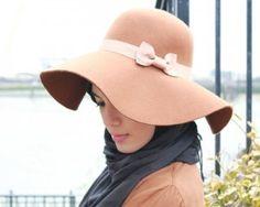 Aalia wearing a #hijab with hat #style #fashion #hijabi