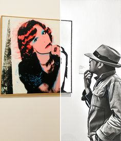 Me and Portrait of Madame Smith by Andy Warhol.
