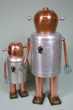 INPUT 1 and INPUT 2 Found Object Robot by NutzenBoltsWorks, $249.00