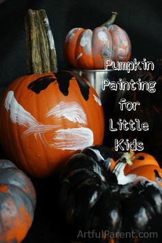 Halloween Pumpkin Painting for Little Kids (including what paints work best)