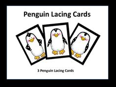 Lacing+cards+with+three+different+penguin+designs.++If+you+like+this+product,+you+may+also+like:PreK+Unit+-+Penguins