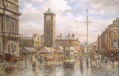 Market day by john Chapman. John Chapman, Bill Graham, Notre Dame, Big Ben, Taj Mahal, Studios, Street, Gallery, Art