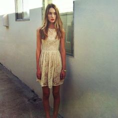 American Apparel Lace Sundress Red