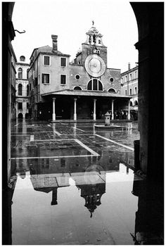 So rare to see a photo of San Giacometti -- even rarer to see it with acqua alta! I love this little campo in Venice.