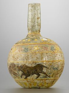 Roman Painted Glass Bottle, 1st-2nd Century AD... at Ancient & Medieval…