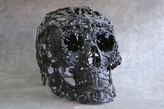 French artist Alain Bellino uses salvaged materials to create  these intricate sculptures