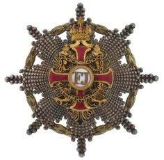 Order of Franz Joseph - Grand Cross Star Ww1 History, Military Decorations, War Medals, Grand Cross, Olympic Medals, Arts Award, Gold Work, Knights Templar, Family Crest
