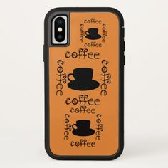 Coffee Wake Up Morning Java Hot Drinks Fun Drink iPhone X Case - wedding thank you gifts cards stamps postcards marriage thankyou