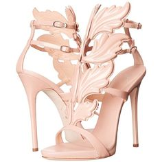 Giuseppe Zanotti I50004 Women's Shoes (€1.470) ❤ liked on Polyvore featuring shoes, sandals, heels, pink, ankle strap platform sandals, t strap platform sandal, metallic platform sandals, leather t strap sandals and pink shoes