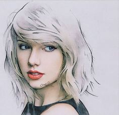 Taylor Swift portrait - artist unknown