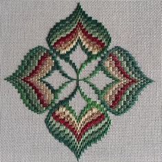 The Journey Continues – Exploring Ribbons & Four-Way Motifs Broderie Bargello, Bargello Needlepoint, Needlepoint Stitches, Needlework, Cross Stitches, Kasuti Embroidery, Ribbon Embroidery, Cross Stitch Embroidery, Cross Stitch Patterns