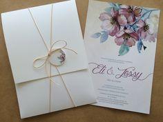 Convite Rústico Chique Convite Floral