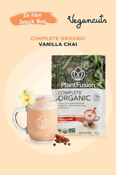PlantFusion's Complete Organic Vanilla Chai combines living plant-based foods beneficial for digestive health, energy and immunity. Packed with 20g of organic plant-based proteins like peas, flax, and organic superfoods, it's naturally flavored with no added sugar. The proprietary blend of living cultured foods and enzymes helps nutrient digestion and absorption. Causes no gas, no discomfort, and no bloating. It enhances immunity by delivering a surge of live nutrients, probiotics, and enzymes.