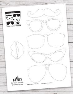 Give your pumpkin some carved accessories, from a mustache to lips to hipster glasses! Click to print your free pumpkin carving printables! 36 Free Pumpkin Stencil Template Printables!