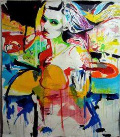 """Saatchi Art Artist Robert House; Painting, """"Kate Moss 1"""" #art"""