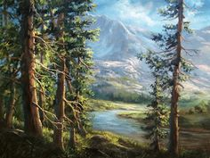 """""""The Hidden Mountain"""" Oil Painting by Kevin Hill Watch short oil painting lessons on YouTube: KevinOilPainting Visit my website:www.paintwithkevin.com Find me on Facebook: Kevin Hill Follow me on Twitter: @Kevin Hill"""