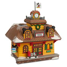 Mickey Mouse ''Mickey's Train Station'' Building by Dept. 56