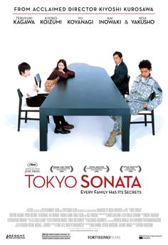 Tokyo Sonata Japanese Movie 2008▶ Owner of 4 awards, the movie focuses on a family of four that keep secrets from each other. The father lost his job, the wife lacks vitality, the oldest son joined the military, and the youngest is bullied and skips karate lessons to learn piano. http://asianwiki.com/Tokyo_Sonata