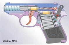 How to reassemble a PPK Slide Video Derringer Pistol, Revolver, Homemade Shotgun, Pocket Pistol, Sniper Training, Weapon Storage, Homemade Weapons, Gun Art, Military Weapons