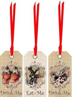 Alice-in-Wonderland-20-eat-me-drink-me-tags-party-decoration-red-satin-ribbon