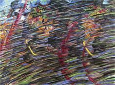 States of Mind II: Those Who Go (1911) by Italian artist Umberto Boccioni (1882-1916). This is oil on canvas and contrived in Milan, Italy.