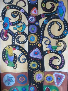 Gustav Klimt - Tree of Life - inspiration. This is one of the best outcomes I've seen