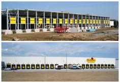 Montaż bram segmentowych i urządzeń przeładunkowych dla centrum dystrybucyjnego